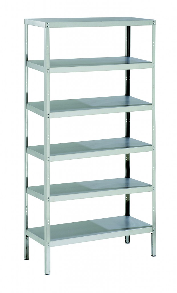 Stainless Steel Storage Rack with 6 Shelves & Adjustable Feet – RACK6S