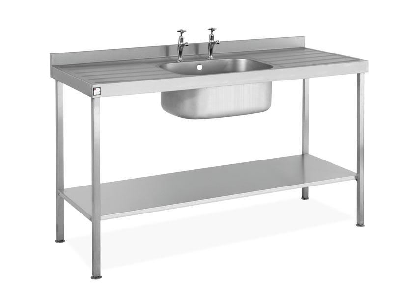 steel self assembly sink single bowl double drainer sink1660sbddfp sale sinksbdd - Double Drainer Kitchen Sink
