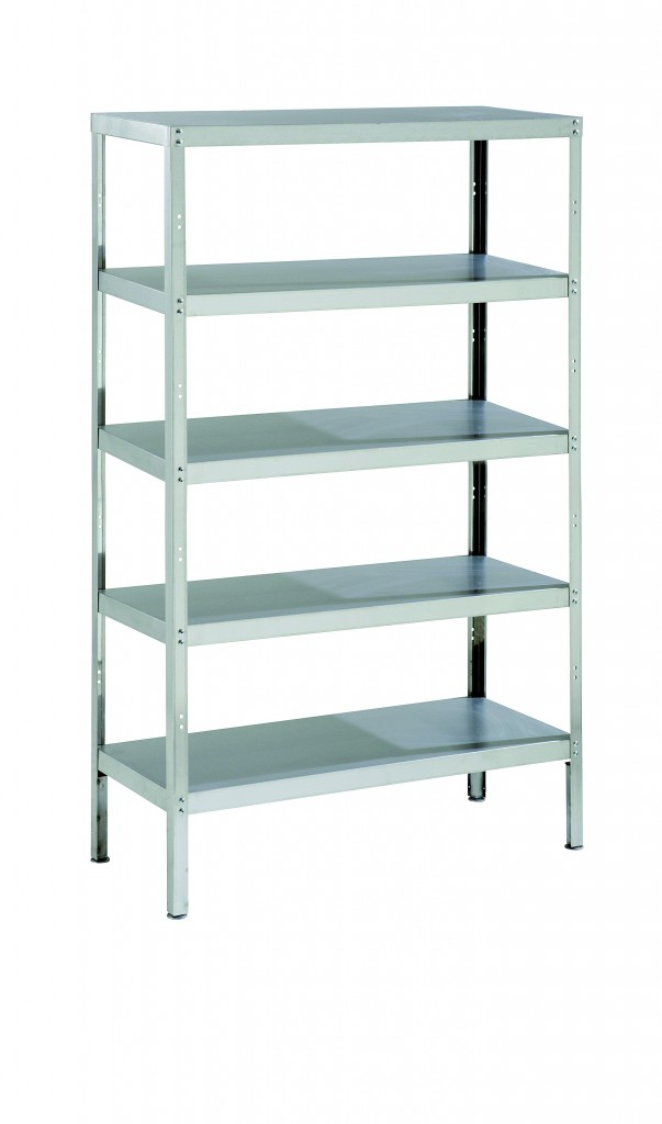Stainless Steel Storage Rack with 5 Shelves & Adjustable Feet – RACK5S