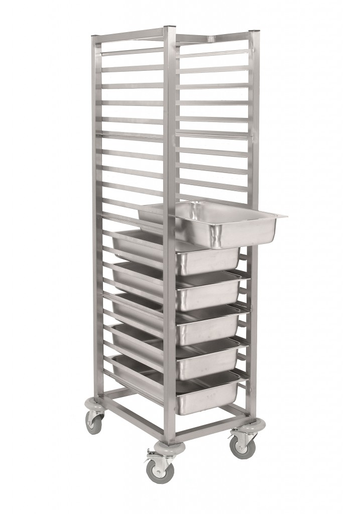 Stainless Steel Gastronorm Tray Trolley – SCT900